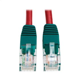 Cat5e 350MHz Molded Cross-over Patch Cable (RJ45 M/M) - Red, 10-ft.