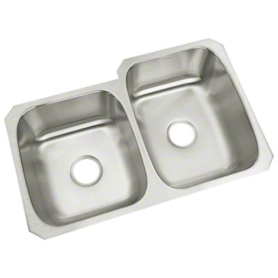 "McAllister® Undercounter Double-basin Kitchen Sink, 31-3/4"" x 18"" / 20-3/4"""