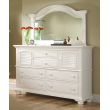 Landscape Mirror With High Dresser