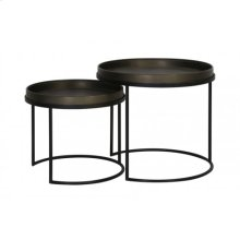 Side table S/2 50x44,5+ 60x54,5 cm COPAN tin look