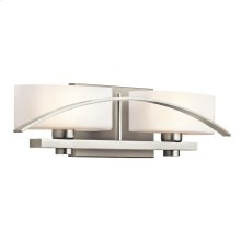 Suspension Collection Suspension 2 light Bath Light in Brushed Nickel