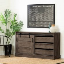 Buffet with Storage and Sliding Door - Fall Oak