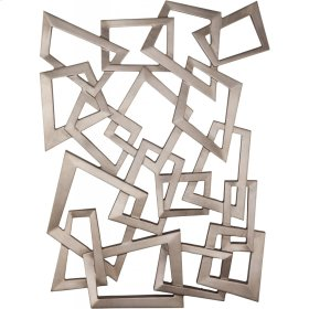 Silver Sculpture Wall Hanging