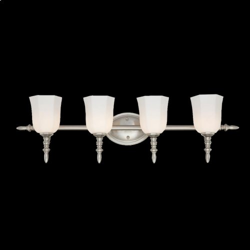 4-LIGHT BATHBAR - Satin Nickel