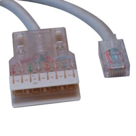 Cat5e 350MHz Cable RJ45M/110 Connector - Gray, 25-ft.