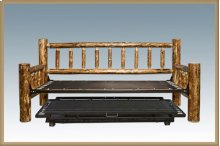 Glacier Country Log Day Bed with Trundle