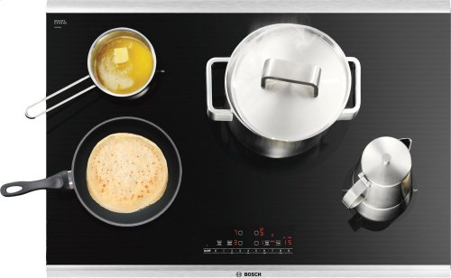 """Serie  6 30"""" Induction Cooktop 800 Series - Black with Stainless Steel Frame NIT8066SUC"""