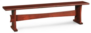 Loft Trestle Dining Bench, Wood Seat