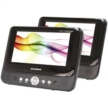 "7"" Dual-Screen Portable DVD Player"