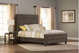 Kaylie California King Bed With Frame (pewter)