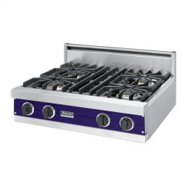 """Cobalt Blue 30"""" Sealed Burner Rangetop - VGRT (30"""" Wide, four burner)"""