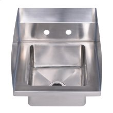 """Noah's Collection Utility Series single bowl, drop-in hand sink with 7"""" side splash."""