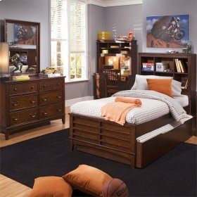 Twin Bookcase Bed, Dresser & Mirror