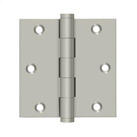 """3 1/2""""x 3 1/2"""" Square Hinge - Brushed Nickel"""