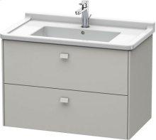 Vanity Unit Wall-mounted, Concrete Grey Matt Decor