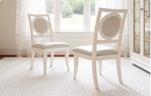 Tower Suite - Pearl Finish Upholstered Back Side Chair