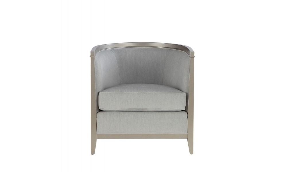Morgan Blue Barrel Chair