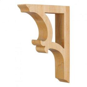 "1-7/8"" x 7-1/2"" x 10-1/2"" Solid Wood Bar Bracket e Hardware Resources, Inc., Species: Maple"