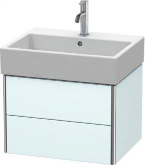 Vanity Unit Wall-mounted, Light Blue Matt Decor