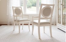 Tower Suite - Pearl Finish Upholstered Back Arm Chair