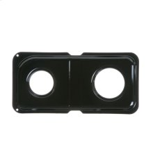GAS RANGE DOUBLE DRIP PAN - RIGHT - BLACK PORCELAIN