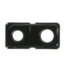 GAS RANGE DOUBLE DRIP PAN - RIGHT - BLACK PORCELAIN