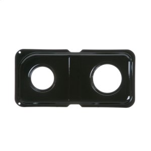 GEGAS RANGE DOUBLE DRIP PAN - RIGHT - BLACK PORCELAIN