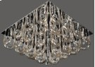 Crystal Flush Mount Lamp, Chrome/crystals, Type Jc/g4 20wx16 Product Image