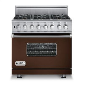 """36"""" Custom Sealed Burner Self-Cleaning Range, Natural Gas, No Brass Accent"""