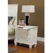 Sandy Beach Three-drawer Nightstand With Tray Product Image