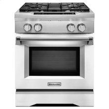 KitchenAid® 30'' 4-Burner Dual Fuel Freestanding Range, Commercial-Style - Imperial White