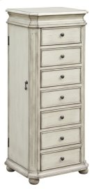 Laurel French White Jewelry Armoire Product Image