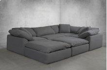 Sunset Trading Cloud Puff Slipcovered 6 Piece Modular Sectional Sofa - 391094