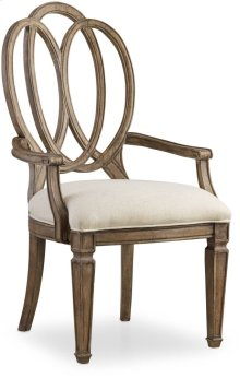 Solana Wood Back Arm Chair
