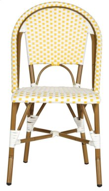 Salcha Indoor-outdoor Stacking Side Chair - Yellow&white