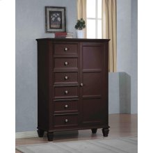 Sandy Beach Cappuccino Door Dresser With Concealed Storage