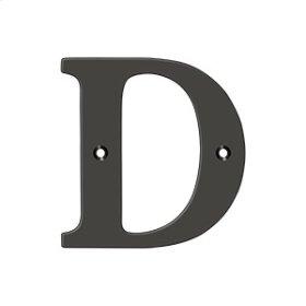 "4"" Residential Letter D - Oil-rubbed Bronze"