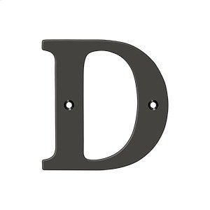 """4"""" Residential Letter D - Oil-rubbed Bronze Product Image"""