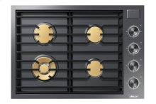 "Modernist 30"" Gas Cooktop, Graphite Stainless Steel, Natural Gas"
