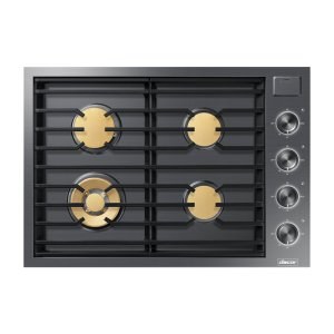 "DacorModernist 30"" Gas Cooktop, Silver Stainless Steel, Natural Gas"