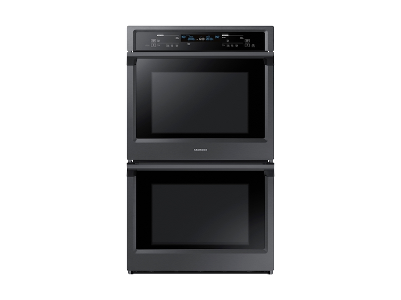 """Samsung30"""" Double Wall Oven In Black Stainless Steel"""