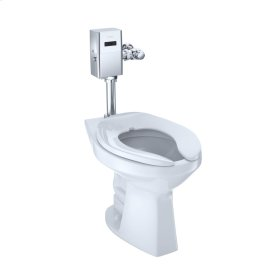 Commercial Flushometer High Efficiency Toilet, 1.28 GPF, ADA Compliant, Elongated Bowl - Cotton