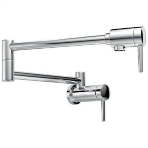Chrome Contemporary Wall Mount Pot Filler Product Image