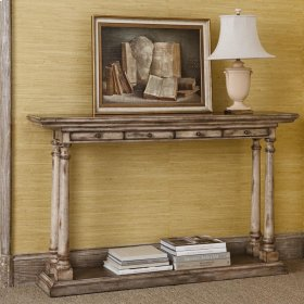 Tapered Column Console Table