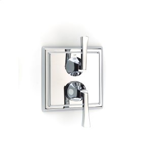 Dual Control Thermostatic with Diverter and Volume Control Valve Trim Leyden (series 14) Polished Chrome