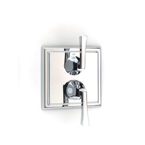 Dual Control Thermostatic With Diverter and Volume Control Valve Trim Leyden Series 14 Polished Chrome