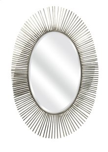 Navio Silver Leaf Abstract Wall Mirror