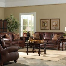 Noble Genuine Leather Loveseat