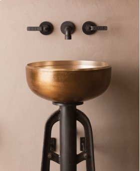 Ore Vessel Sink Golden Bronze