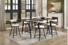 Swivel Pub Height Chair, White